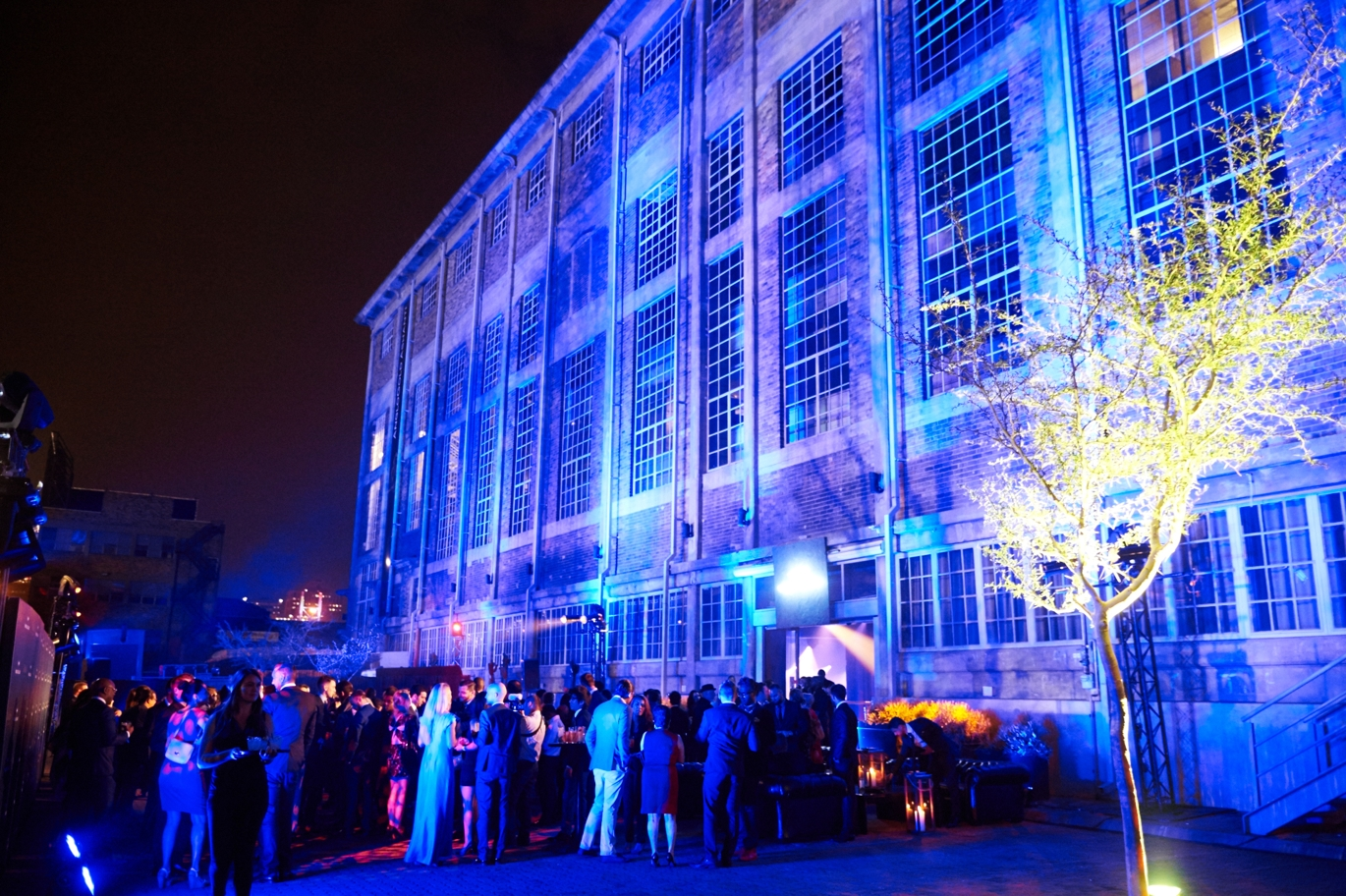 Opening ceremony in Johannesburg on Sunday courtesy of Johnnie Walker's Symphony in Blue
