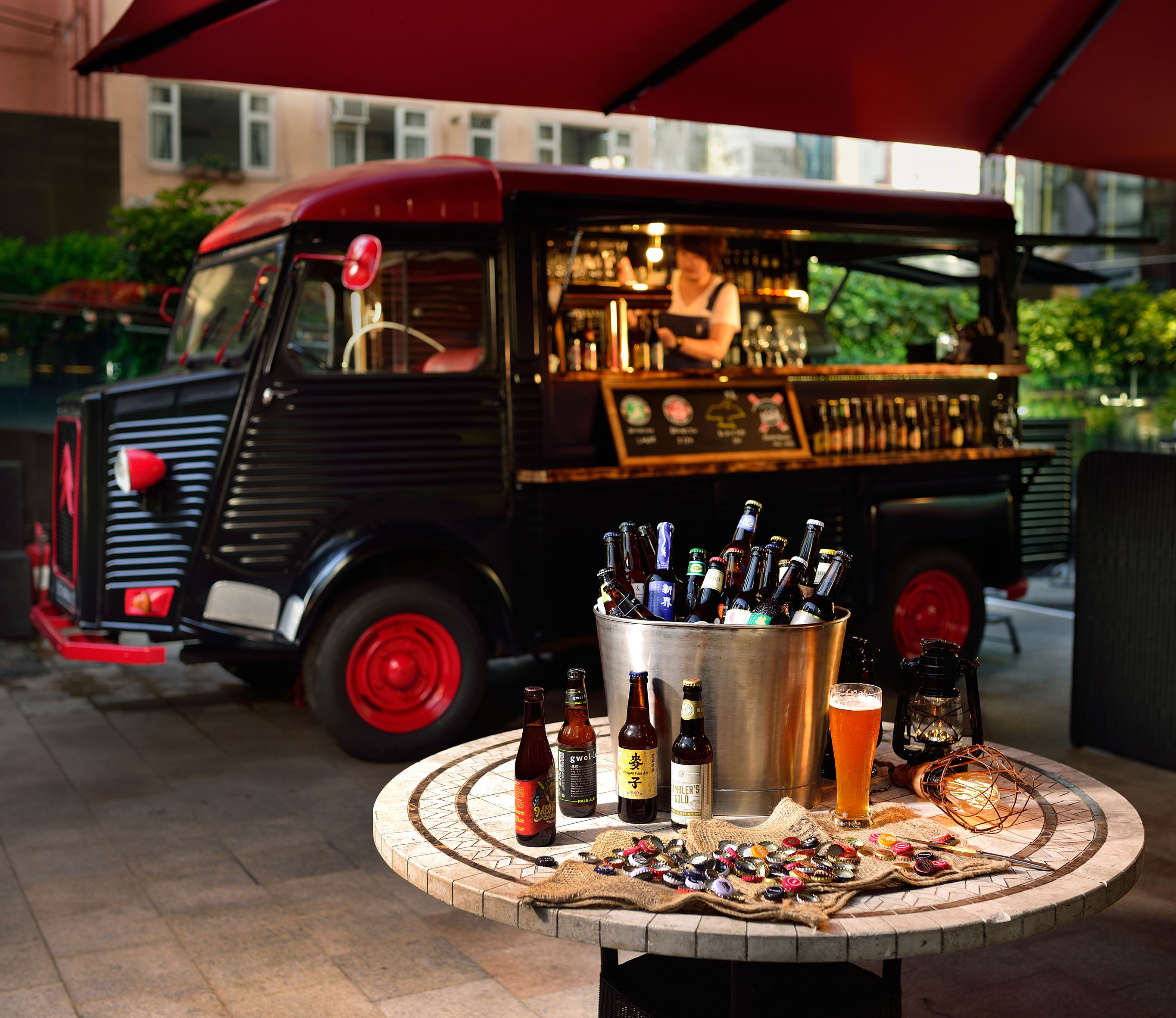 The garage bar opens at cordis hong kong drinks world for Bar 96 food truck