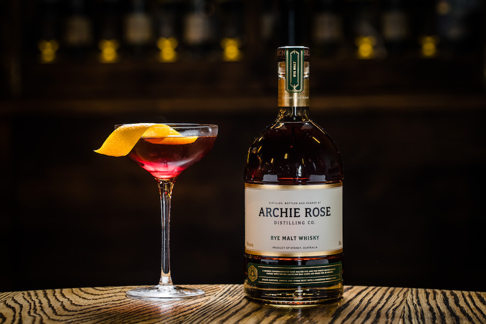 Archie Rose Rye Malt Whisky Manhattan